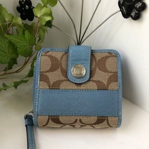 Baby Blue & Signature C Brown Monogram Mini Wallet